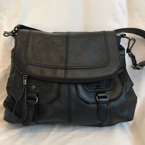 THE SAK black Silverlake flap crossbody - leather